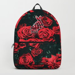 Love Finger Snap Roses Backpack