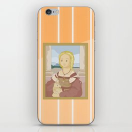 Lady with Unicorn by Raphael iPhone Skin