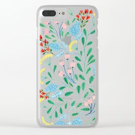 Floral Garden Clear iPhone Case