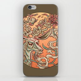 Deer Smoke & Indian Paintbrush iPhone Skin