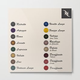 Nespresso Coffee Metal Print