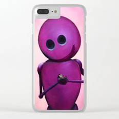 Happy Bot Clear iPhone Case