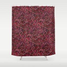 Pink Flowers, Blush Curves, fiber art Shower Curtain