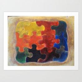 Multicolor Puzzle Painting Art Print