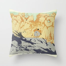 Salvador Dali - lithograph Salvador Dali (1904-1989) - Costa Brava Lithograph (1971) - Surrealism - Throw Pillow