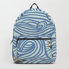 Rough Seas Repeating pattern Backpack