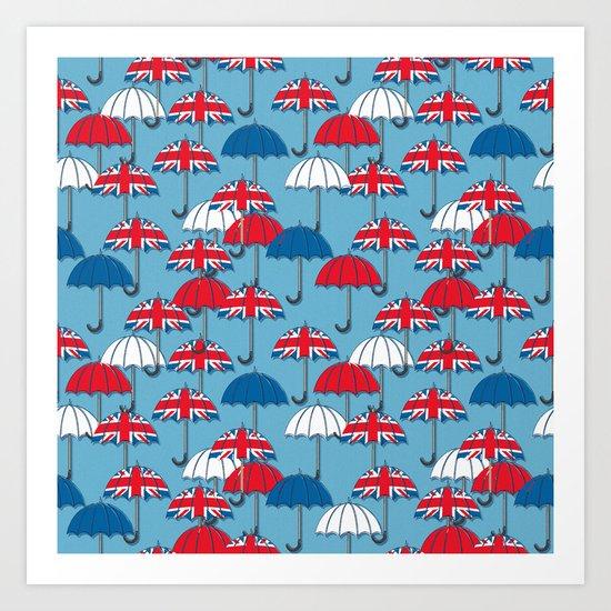 UK Umbrellas Art Print