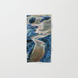 Abstract rock pool and sand on a beach Hand & Bath Towel