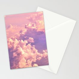 Whimsical Unicorn Lavender Clouds Stationery Cards