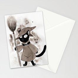 Inktober: Witch Kitty Stationery Cards