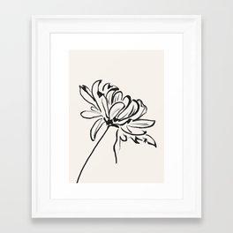 sketch art flower Framed Art Print