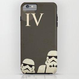 Star Wars Minimal Movie Poster iPhone Case