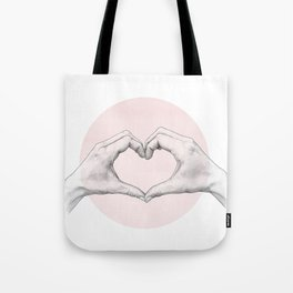 heart in hands // hand study Tote Bag