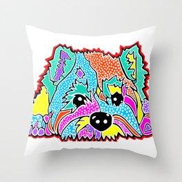 Cotton Candy Dots Westie West Highland Dog Pet Terrier Scottish Scotland Cairn Border Glen Fox Kerry Throw Pillow