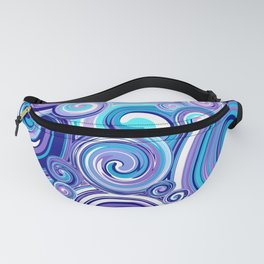 Whirlwind in Turquoise, Lavender, Purple, Navy Fanny Pack