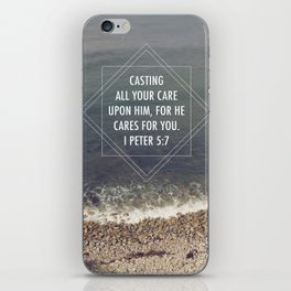I Peter 5:7  /  Casting all Your Care iPhone Skin