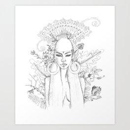 Divine Maya Art Print
