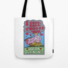 valentines day choo choooo Tote Bag