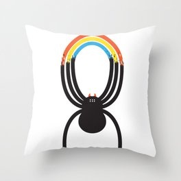Spiders Are Rainbows Throw Pillow