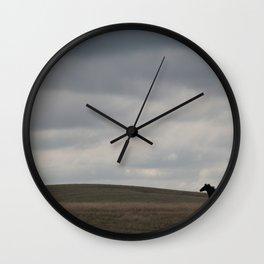 Horse running open prairie Wall Clock