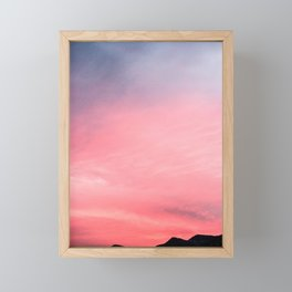 Salmon Skies Framed Mini Art Print