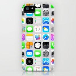 Phone Apps (Flat design) iPhone Case