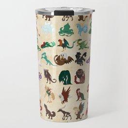 Mythical Creatures Pattern Travel Mug