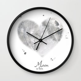Moon in love Wall Clock