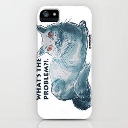 cartoon style cool cat illustration iPhone Case