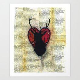 Hart Heart Art Print