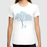 women T-shirts featuring The Start of Something by David Fleck