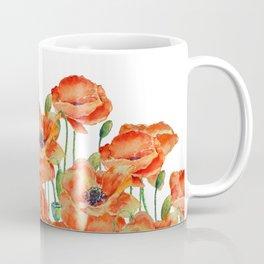 Watercolor poppy field illustration Coffee Mug