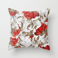 roman Throw Pillows featuring Roman Collage by Eleaxart