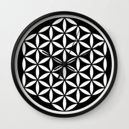 Flower of Life Yin Yang Wall Clock