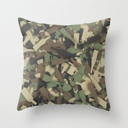 Forest alcohol camouflage Throw Pillow