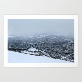 Sarajevo under the snow Art Print