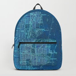 Miami Florida vintage map year 1950, blue usa maps Backpack