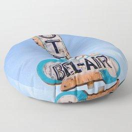 Motel Bel Air Vintage Neon Sign Floor Pillow