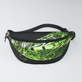 Green to Black Fanny Pack