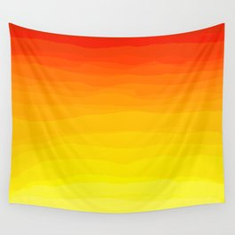 Red to Yellow Sunset Wall Tapestry