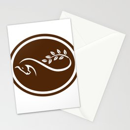 Horse Mobius Strip Branch Oval Stationery Cards