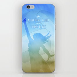 The volleyball court is my happy place beach volley player iPhone Skin