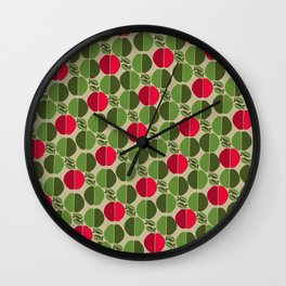 Red and green apples Wall Clock