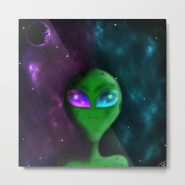 Eyes of the Alien Metal Print