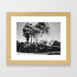 Southern Pacific Steam Locomotive Near Kearney & Liberty Missouri Framed Art Print