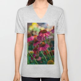 Coneflowers Unisex V-Neck