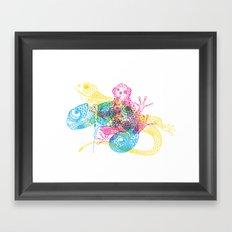 CMY Reptiles Framed Art Print