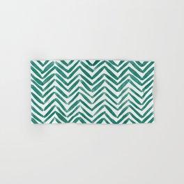 Zigzag - green Hand & Bath Towel
