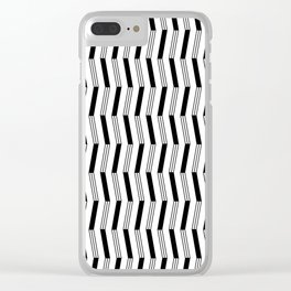 Art Deco Piano Keys Session Clear iPhone Case