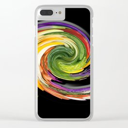 The whirl of life, W1.9B Clear iPhone Case